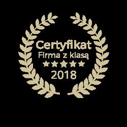 Certyfikat Firma z Klasą 2018