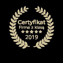 Certyfikat Firma z Klasą 2019